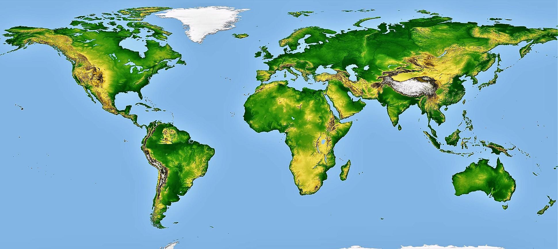 planisferio fisico mundial mudo