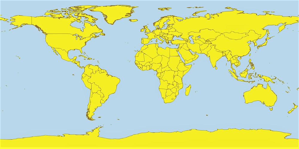 mapa mundi politico sin nombres